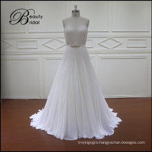 A-Line Beads and Crystals Bridal Wedding Dress