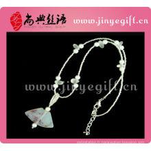 Shangdain Handcrafted Agate culturelle bijoux peints à la main chaîne