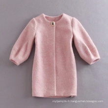 Manteau d'hiver en gros de haute qualité femmes rose manteau