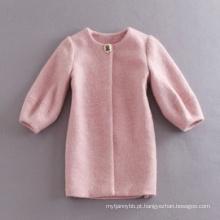 Casaco de inverno por atacado de alta qualidade mulheres casaco rosa