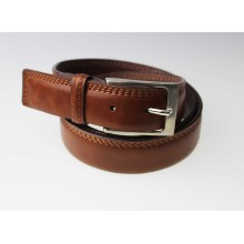 Elegant polish brown stitching leather belt golf belt