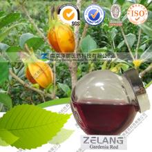 Extracto de Gardenia natural Polvo de pigmento rojo comestible Gardenia