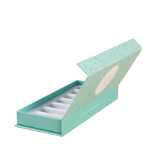 blue skincare tube glass packaging box with magnetic
