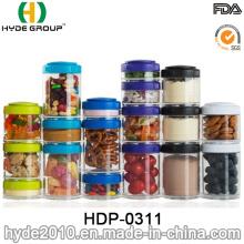 Caixa plástica popular do pó da proteína dos PP do Portable, recipiente plástico livre do comprimido de BPA (HDP-0311)