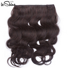 Unprocessed Body Wave Halo Virgin Remy Brazilian Human Hair Extension