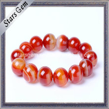 Red Color Brazil Natural Bracelet Beads