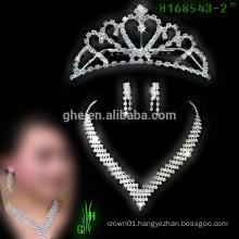 New designs rhinestone royal accessories cheap tall pageant bridal crown