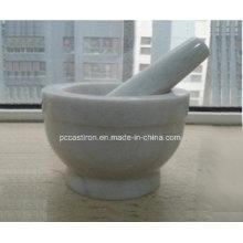 Мраморный камень минометы и пестики Размер 13X10cm