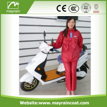 PU/ Polyster Rain Suit/ Rain Wear with Jacket and Pants