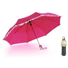 DOT Print&Skirt 3 Fold Auto Open Umbrellas (YS-3FA22083280R)