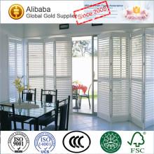 Neue Ankunft mit Luxusqualität von guten Preisen Kundengebundene befleckte Klimaanlage-justierbare Jalousie-Plantagen-Fensterläden