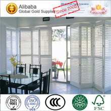 New Arrival with Luxury Quality of Good Prices Customised Stained Air Conditioner Adjustable Louvers Plantation Shutters