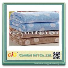 100% полиэстер флис твердых или печатных флиса одеяло