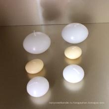 Белый круглый плавающие свечи парафин