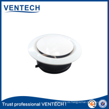 Sistemas HVAC Ventilación Difusor de aire Suministro de ABS Válvula de disco de aire