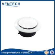 Válvula de disco de suprimento de ar ABS para sistemas HVAC Ventilação difusor de ar