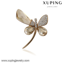 00091 Xuping moderno popular animal libélula broche pin moda joyas cristales de Swarovski