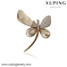 00091 Xuping moderne animal populaire broche libellule broche bijoux à la mode des cristaux de Swarovski