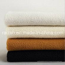 Tissus en peluche d'agneau Vêtements en polyester teintés Chaussures Toile en tissu