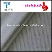 fondo blanco raya negra hilados teñidos algodón popelín liso armadura llana ligera de ropa camiseta
