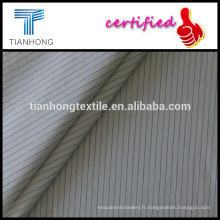 fils de bande noire fond blanc coton/popeline douce armure léger tissu pour chemise vêtements teinté