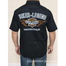 harley biker legend flame shield men's shirts 20FM-98686