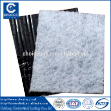 Self adhesive composite waterproofing underlayment