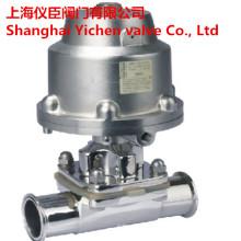 Válvulas de diafragma sanitaria neumática de la abrazadera de acero inoxidable