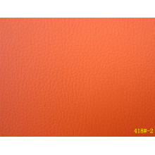 Bright Orange Color for PVC Leather Used in Car Seat (418#-2)