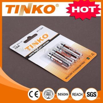 TINKO 2pcs/shrink 6pcs/shrink carbon zinc battery AAA