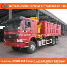 6X4 Dump Truck with XCMG 10t Crane
