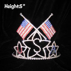 Bandera nacional de EE. UU. Whoesale 4 de julio Festival coronas