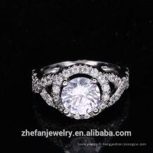 nouveaux arrivants 2018 en gros fabricant de bijoux rond cz anneau