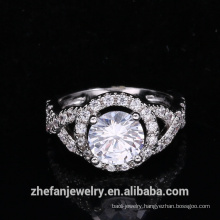 new arrivals 2018 wholesale jewelry manufacturer round cz ring