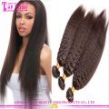 Wholesale grade 7a mongolian kinky straight hair virgin kinky straight braiding hair