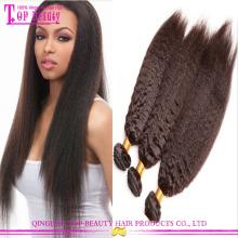 Atacado grau 7a mongol kinky cabelo liso virgem kinky reta trança de cabelo