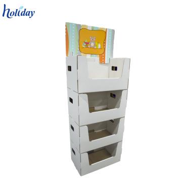 Holiday 3 étagères promotionnel chocolat étage en carton étagère affichage unités en gros