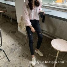 2019 Korean slim jeans for women