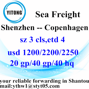 Shenzhen International Express-Delivery Services nach Kopenhagen