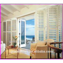 wooden shutter with sliding door