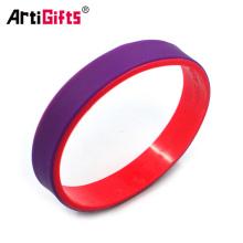 Bracelets de caoutchouc de conception personnalisée de vente chaude