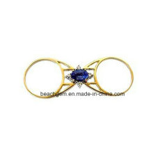 Special Design 14k Gold Plating Ruby/Sapphire Flip Ring (R1393)