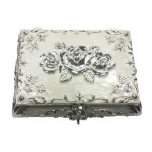 Caixa de jóias elegante caixa de jóias de metal caixa de pulseira