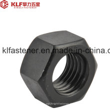 ISO4032 / Gr8 / Carbon Stahl / M5-52 / Sechskantmutter mit schwarzem Zink