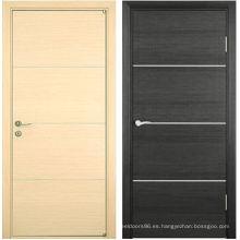 Puerta revestida del PVC de madera de alta calidad barata de 2015 Hotsale