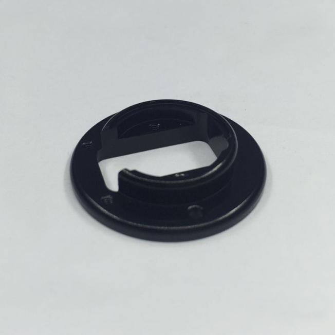 black anodized metal