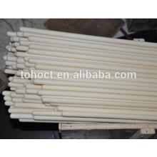 Tubos de tubo de cerâmica de proteção térmica com uma extremidade fechada