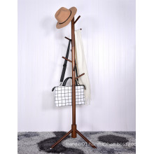 Premium Free Standing Rustic Wooden Hanger Stand For Clothes