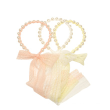 Lace Pearl Bow Knot Headband Luxury Hair Accessories Korean Handmade Princess Birthday Hairband Sweet For Women Girls Gift Party