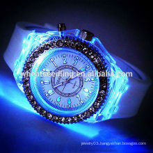Trendy fashion silicone band led silicone watch